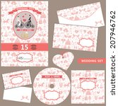 the wedding design template set ... | Shutterstock .eps vector #207946762
