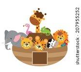 animal,ark,cartoon,chameleon,cute,elephant,flamingo,giraffe,illustration,jungle,lion,noahs,parrot,tiger,vector