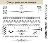 vector set calligraphic vintage ... | Shutterstock .eps vector #207973912