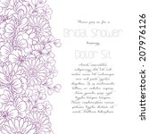 wedding invitation cards with... | Shutterstock .eps vector #207976126