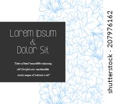 wedding invitation cards with... | Shutterstock .eps vector #207976162