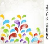abstract  splash vector... | Shutterstock .eps vector #207977362