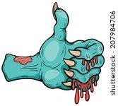 vector illustration of zombie... | Shutterstock .eps vector #207984706
