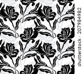 elegant seamless pattern with... | Shutterstock . vector #207984982