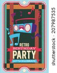 vector illustration with retro... | Shutterstock .eps vector #207987535
