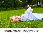 beautiful healthy young woman... | Shutterstock . vector #207991012