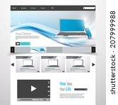 technology business website...   Shutterstock .eps vector #207999988