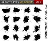 vector grunge splashes | Shutterstock .eps vector #208003462