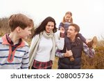 Family On Countryside Walk