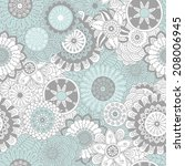 hand drawn floral background   Shutterstock .eps vector #208006945
