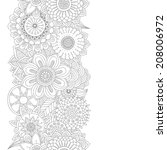 hand drawn floral background | Shutterstock .eps vector #208006972