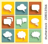 set speech bubble icons for web ... | Shutterstock . vector #208013566