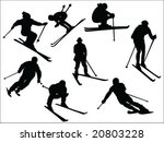 skier silhouette collection...