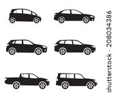 car icon set. different car... | Shutterstock . vector #208034386
