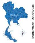 thailand map | Shutterstock .eps vector #208049938