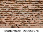 background of bricks wall. | Shutterstock . vector #208051978