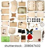 scrapbooking elements. vintage... | Shutterstock . vector #208067632