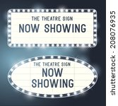 vintage showtime theatre cinema ... | Shutterstock .eps vector #208076935