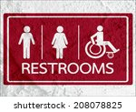 restroom icon and pictogram man ... | Shutterstock . vector #208078825