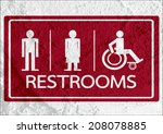 restroom icon and pictogram man ... | Shutterstock . vector #208078885