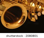 sax on the black background | Shutterstock . vector #2080801