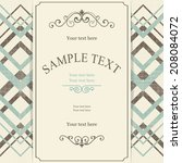 vector retro template frame... | Shutterstock .eps vector #208084072