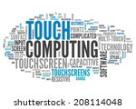 word cloud with touch computing ... | Shutterstock . vector #208114048