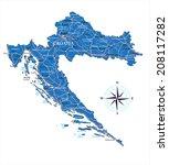 croatia map   Shutterstock .eps vector #208117282