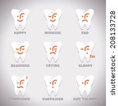 vector smiles icons ... | Shutterstock .eps vector #208133728