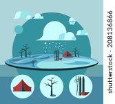 nature landscape illustration.  ... | Shutterstock . vector #208136866