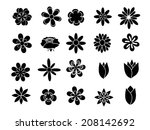 set of illustration flowers | Shutterstock . vector #208142692