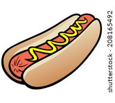 hot dog | Shutterstock .eps vector #208165492