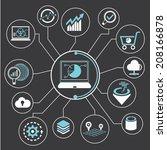 data analysis  data analytics... | Shutterstock .eps vector #208166878