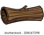 hollow log | Shutterstock .eps vector #208167298