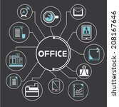 organization and office... | Shutterstock .eps vector #208167646