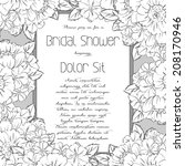 wedding invitation cards with... | Shutterstock .eps vector #208170946