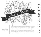 wedding invitation cards with...   Shutterstock .eps vector #208171012