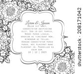 wedding invitation cards with... | Shutterstock .eps vector #208171042