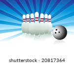 wallpaper  ten pins vector | Shutterstock .eps vector #20817364