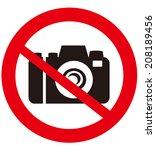 No Camera Vector Sign