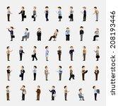 business men   isolated on... | Shutterstock .eps vector #208193446
