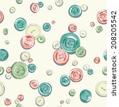 hand drawn buttons pattern | Shutterstock .eps vector #208205542