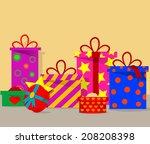 gift background. vector eps 10 | Shutterstock .eps vector #208208398
