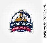 handyman home repair corporate... | Shutterstock .eps vector #208216726