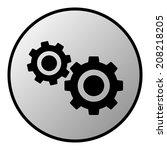 settings button on white...   Shutterstock .eps vector #208218205