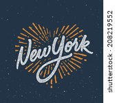 Vintage New York Calligraphic...