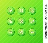 green game ui   vector set of...