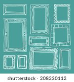 set picture frames  hand drawn ... | Shutterstock .eps vector #208230112