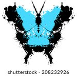 abstract,animal,arthropods,black,blots,blue,butterfly,card,cover,creepy,curve,decor,decoration,decorative,design