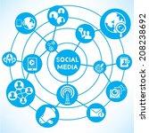 social network concept info... | Shutterstock .eps vector #208238692